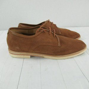 H by Hudson London Suede Leather Oxford Shoes